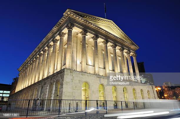 town hall, birmingham - town hall stock photos and pictures