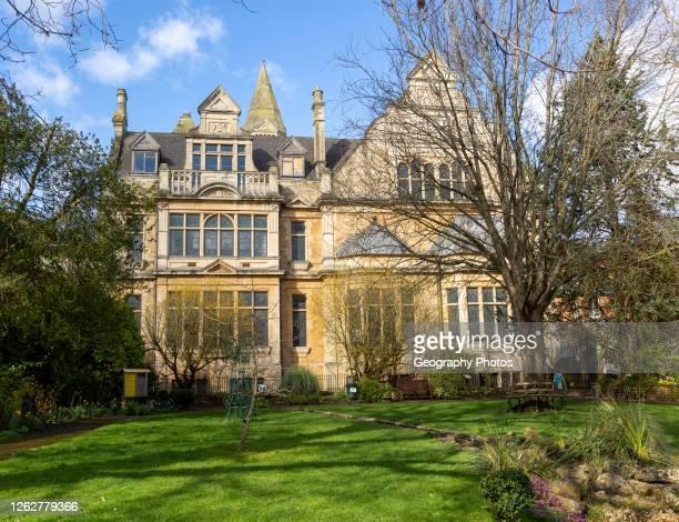 Town Hall building built 1887 and Sensory Garden, Trowbridge, Wiltshire, England, UK.