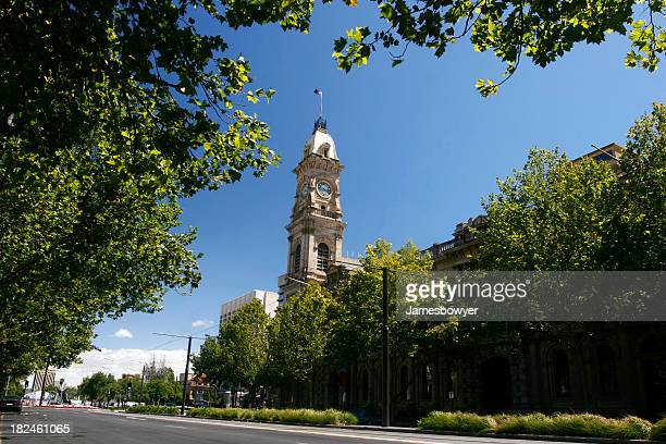 town hall clock - adelaide stock pictures, royalty-free photos & images