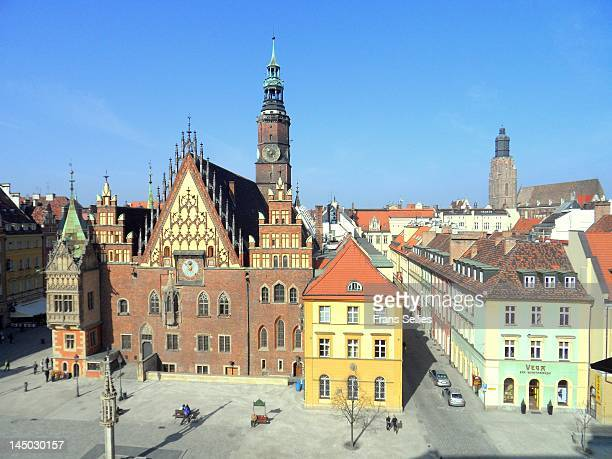 Town hall in old city of Wroclaw