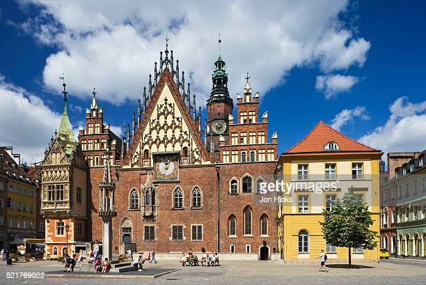 town hall in old market square - town hall stock pictures, royalty-free photos & images