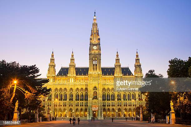 Town Hall in Vienna at Dusk
