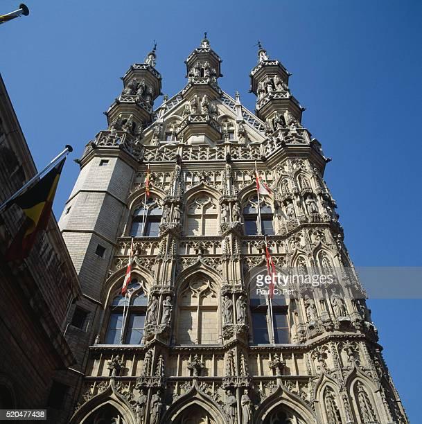 town hall, leuven, brabant, belgium - leuven stock pictures, royalty-free photos & images