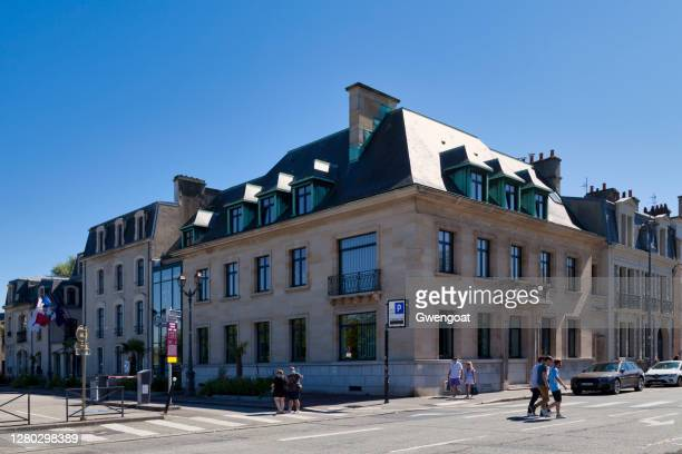 town hall of cherbourg-en-cotentin - gwengoat stock pictures, royalty-free photos & images