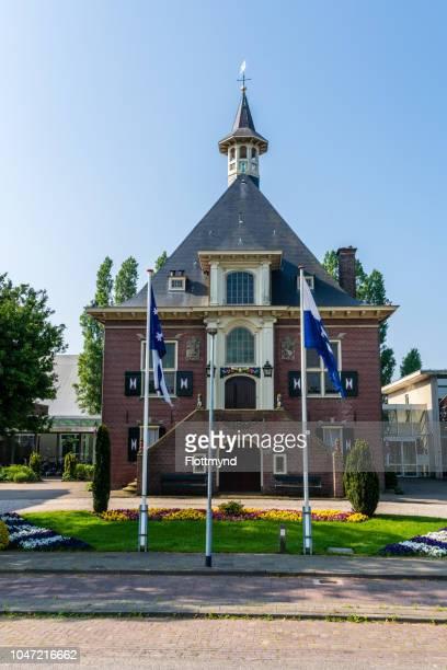 town hall of haarlemmerliede en spaarnwoude - boek stock-fotos und bilder