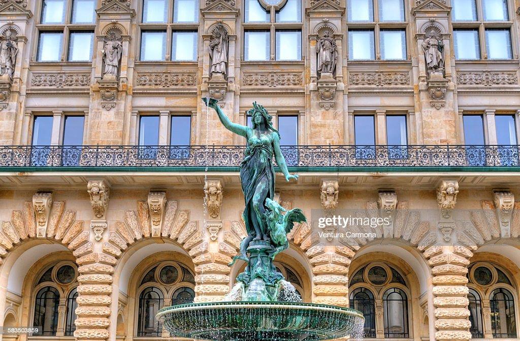 Town Hall of Hamburg, Germany : Stock Photo