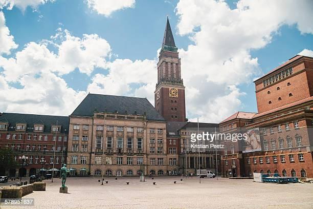 town hall of kiel - rathaus stock-fotos und bilder