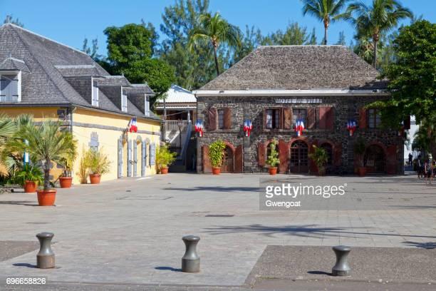 town hall of saint-leu de la reunion - gwengoat stock pictures, royalty-free photos & images