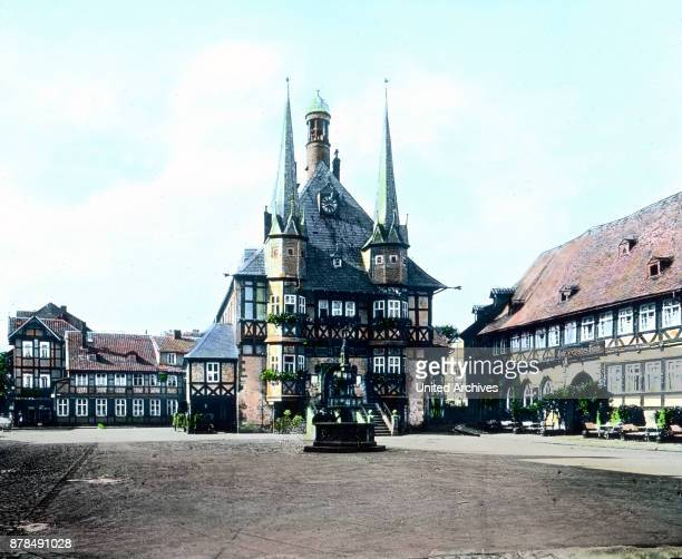 Town hall of the city of Wernigerode in the Harz region