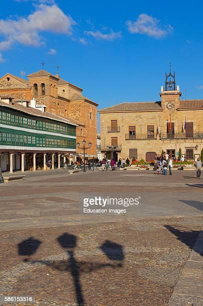 Town Hall Plaza Mayor Almagro Ciudad Real province CastillaLa Mancha Spain