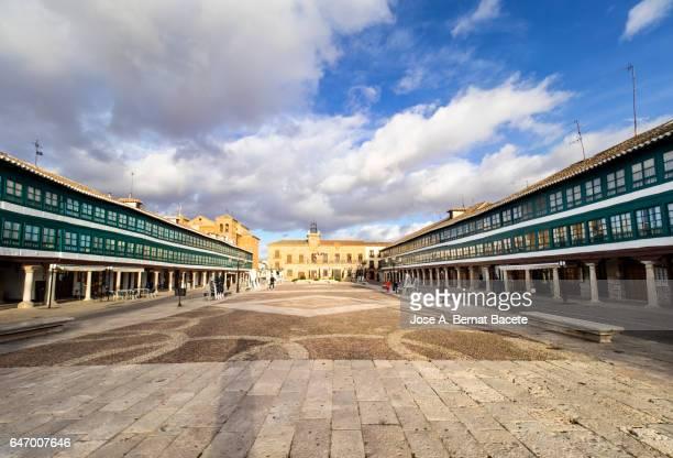 Town Hall, Plaza Mayor, Almagro, Ciudad Real province, Castilla-La Mancha, Spain