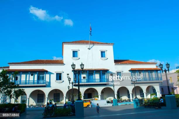 town hall, santiago de cuba - communist dictator stock photos and pictures