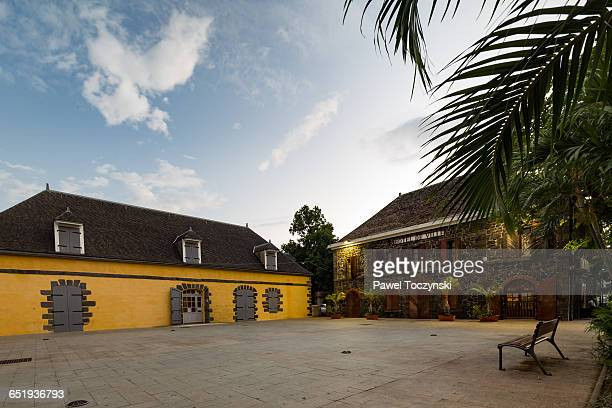 town hall square in saint-joseph, la réunion - フランス海外領 ストックフォトと画像