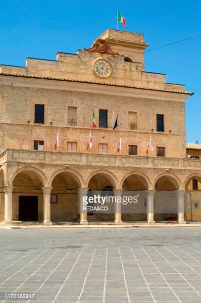 Town Hall square, Montefalco, Umbria, Italy, Europe.