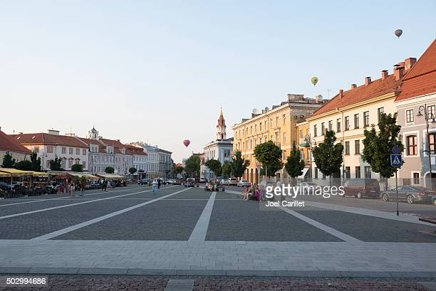 town hall square - vilnius, lithuania - town hall square stock pictures, royalty-free photos & images