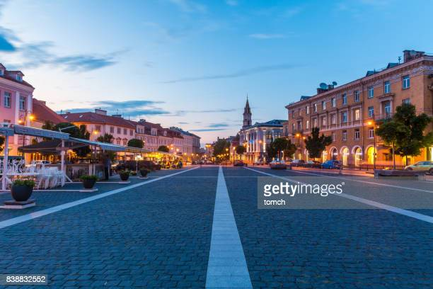 town hall square, vilnius, lithuania - lithuania stock pictures, royalty-free photos & images