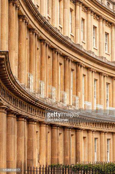 town houses on the circus in bath, england - bath england stock pictures, royalty-free photos & images
