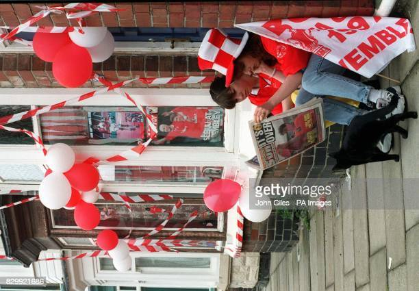 Town in mourning as Middlesbrough fans read about their FA Cup Final defeat today to end a nightmare season Pictured are life long fans Natalie...