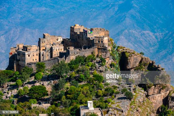 town in yemen. - yemen stock pictures, royalty-free photos & images