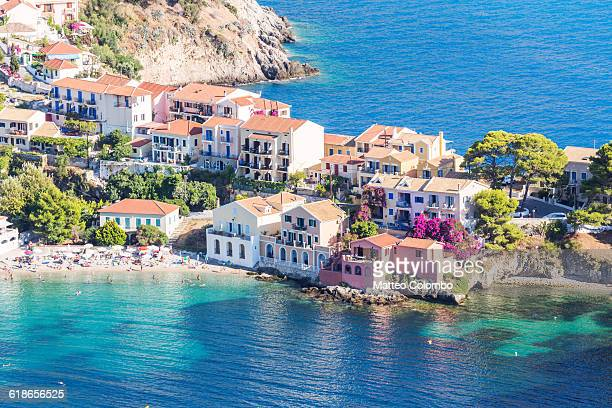 Town of Assos with colorful houses. Greece
