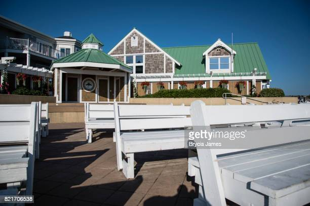 town of bethany beach bandstand and building - bethany beach stock photos and pictures