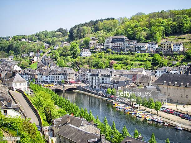 town of bouillon - ardennes department france stock photos and pictures