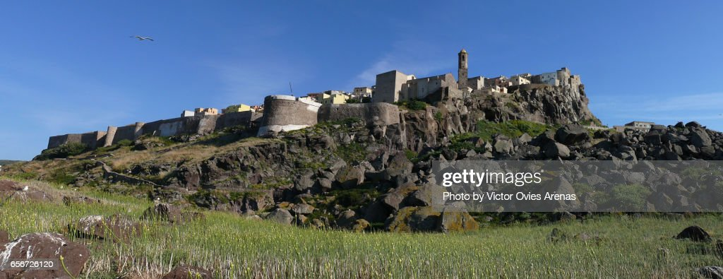 Town of Castelsardo in the province of Sassari, on the island of Sardinia, Italy : Foto de stock