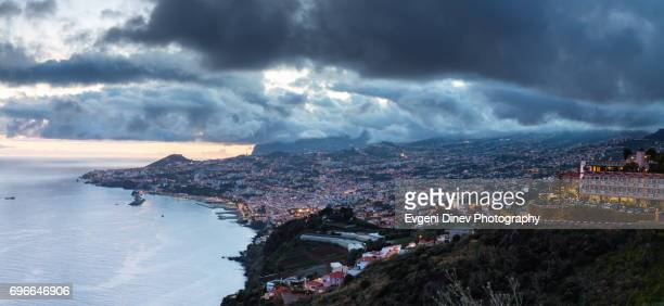 Madeira, Portugal - Juny 2017: Town of Funchal at night