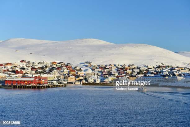 Town of Honningsvag, Island Mageroeya, Finnmark, Norway