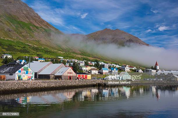 iceland. - husavik stock photos and pictures