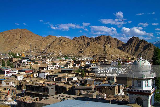 town of old leh - hema narayanan stock pictures, royalty-free photos & images