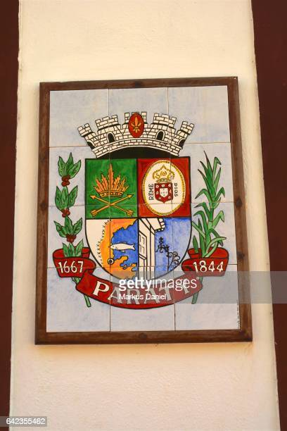 town of paraty, rio de janeiro - coat of arms stock pictures, royalty-free photos & images