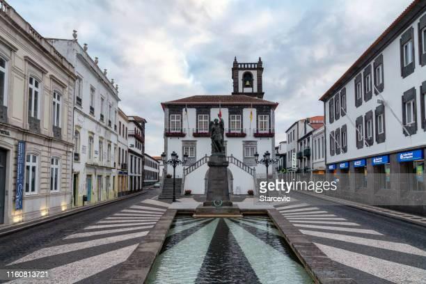 town of ponta delgada - the azores - ponta delgada stock photos and pictures