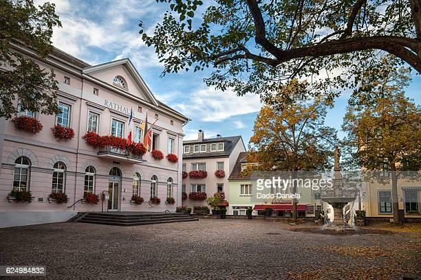 town of remagen - rathaus stock-fotos und bilder