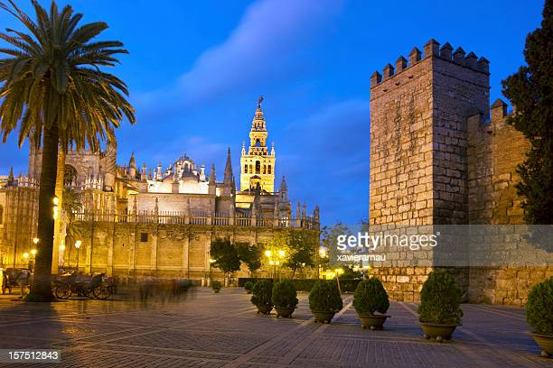 town of seville - cathedral stock pictures, royalty-free photos & images