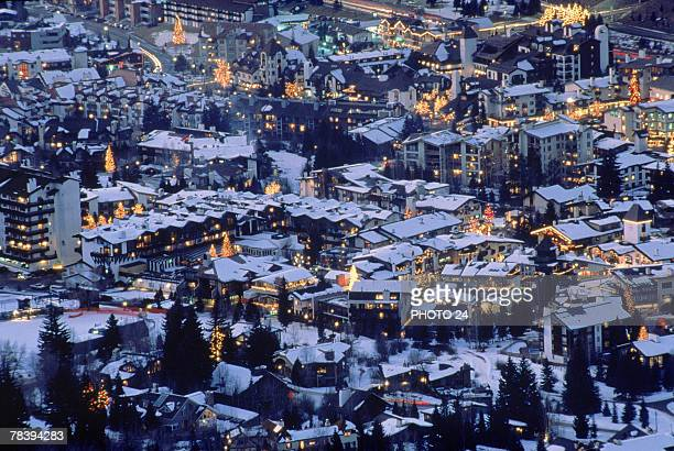 town of vail, colorado - vail colorado stock photos and pictures