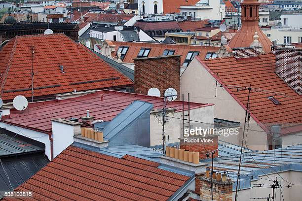 Town rooftops