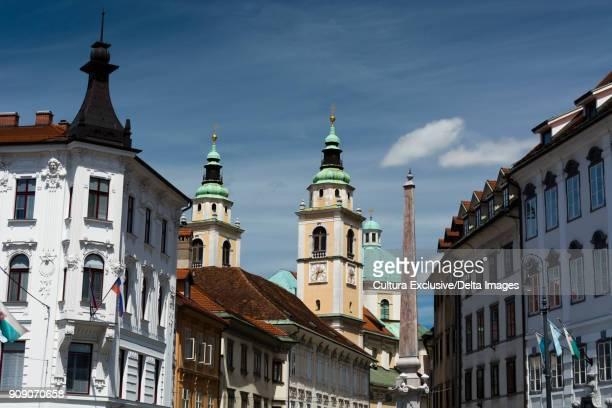 Town Square and the cathedral of Saint Nicholas, Ljubljana, Brezovica Commune, Slovenia