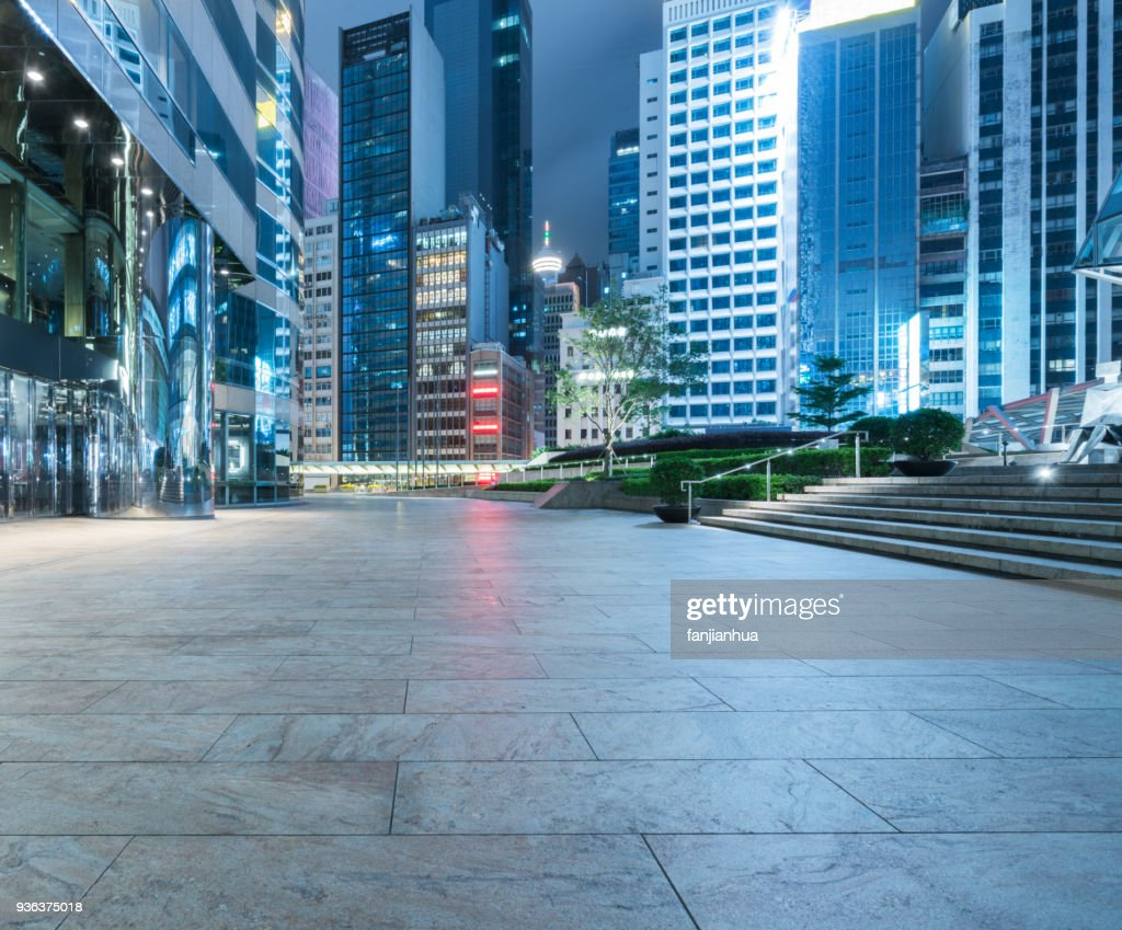 town square at night : Stock Photo