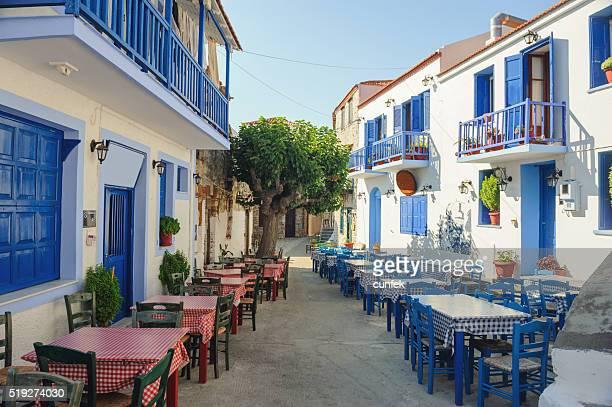 città Piazza nella città vecchia Alonissos (Alonneso