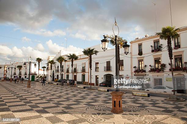 Town square in city of Olivenza