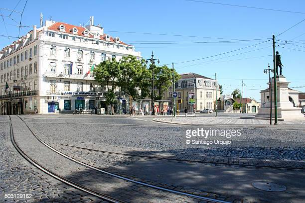 Town square in Lisbon