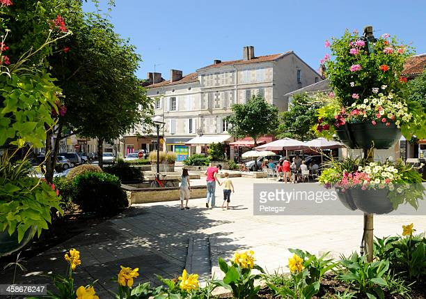 town square in ruffec, france - charente stock pictures, royalty-free photos & images