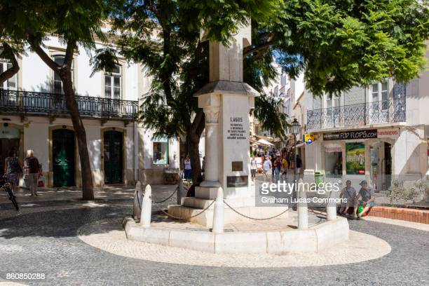 Town Square of Lagos, Portugal Cross Section of R. Candido dos Reis Meets R. Antonio Barbosa Vian