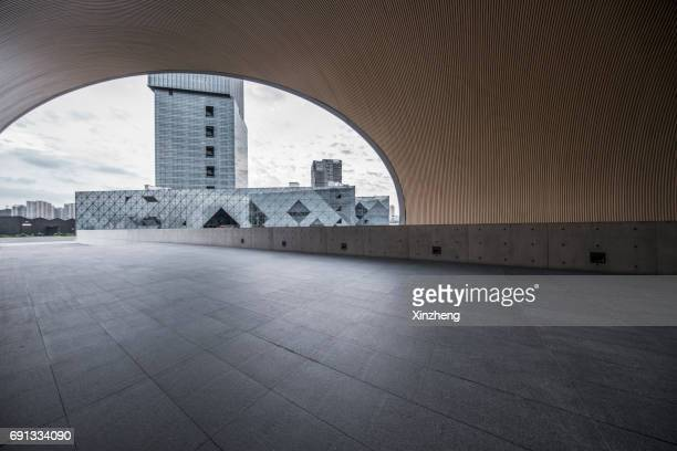 town square - tadao ando stock photos and pictures