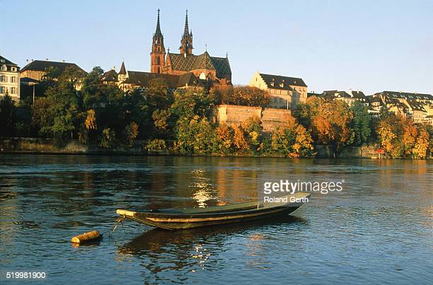 town view of basel, switzerland - basel switzerland stock pictures, royalty-free photos & images