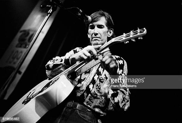 Townes Van Zandt, guitar and vocals, performs at the Paradiso on October 17th 1991 in Amsterdam, Netherlands.