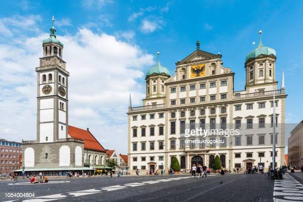 アウクスブルクとドイツの聖ペテロの市庁舎 - アウグスブルク ストックフォトと画像