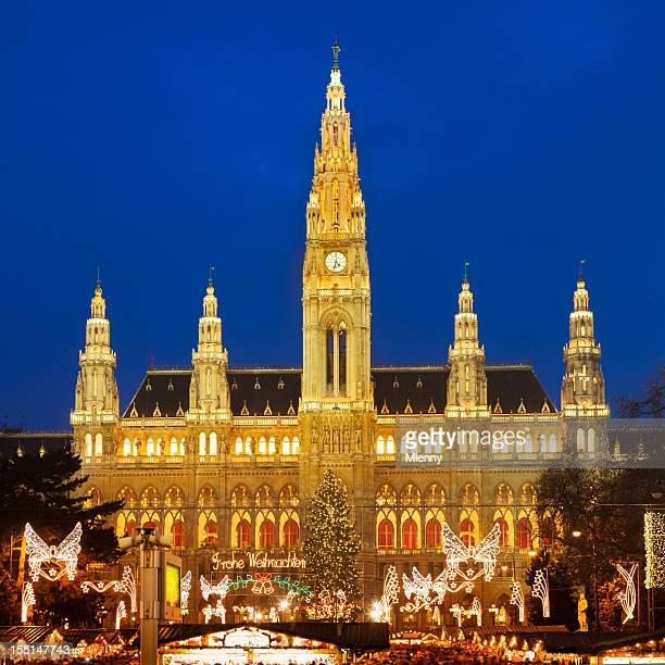 Wiener Stadthalle und den new croton dam mit Weihnachtsmarkt, Österreich
