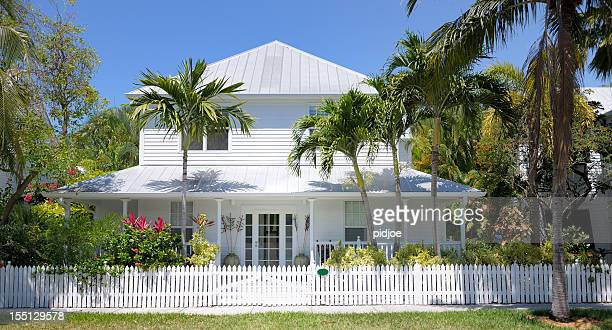 townhouse in key west florida usa - southern usa stock pictures, royalty-free photos & images